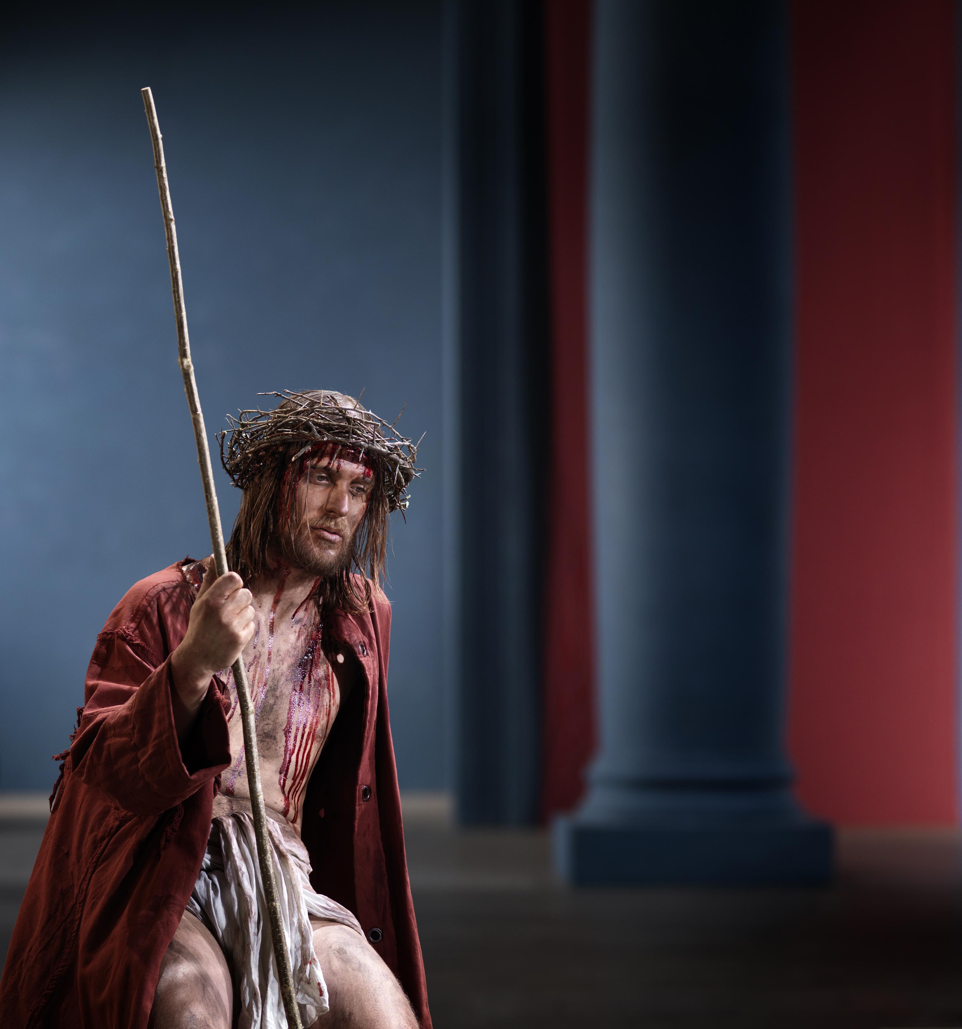 Jesus von Nazaret in der Szene Ecce homo Passionsspiele 2020 Oberammergau