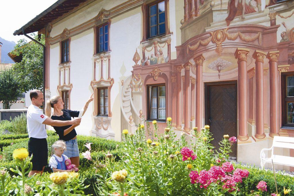 Oberammergau Haus mit Bemalung