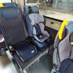 Nö-Mobil Kindersitze der Klasse 1, 2 und 3 sind mit dabei. Von 9 kg bis 36 kg ist alles möglich.