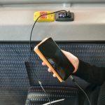 Nö-mobil bietet an allen Fahrgastsitzen USB-Lademöglichkeit für Mobilgeräte