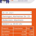Nö-mobil online Buchung Mobilgerät